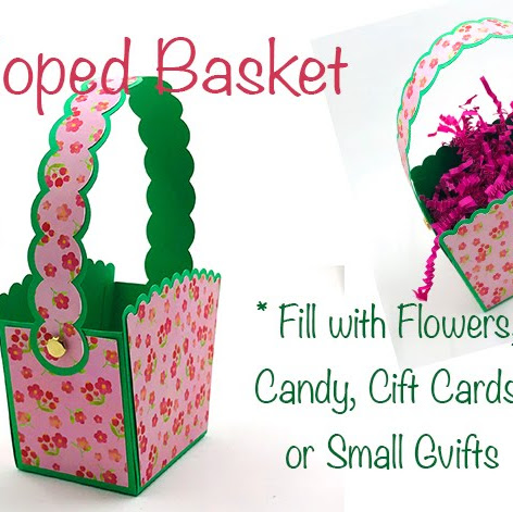 Scalloped Basket for Spring or Easter