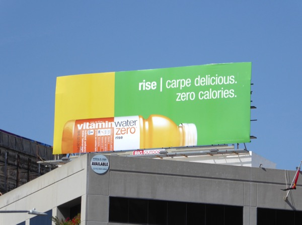 Vitamin Water Rise Carpe delicious Zero billboard