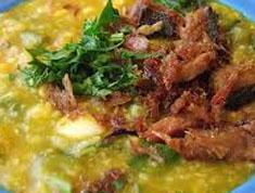 Resep makanan indonesia bubur manado spesial (istimewa) praktis mudah sedap, enak, gurih, nikmat lezat