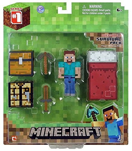 Minecraft Survival Pack Unboxing (Steve)