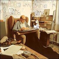 Resultado de imagen de roald dahl en su cabaña de escribir