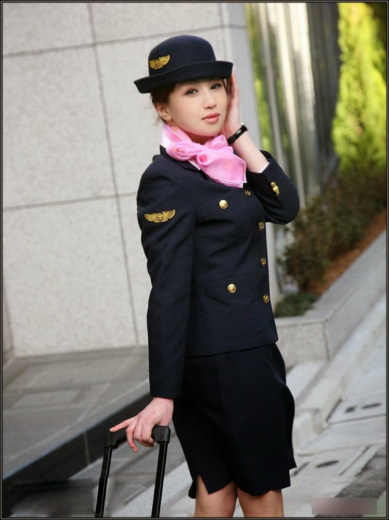 Beautiful Air Hostess Costume In Japan  World Stewardess -9319
