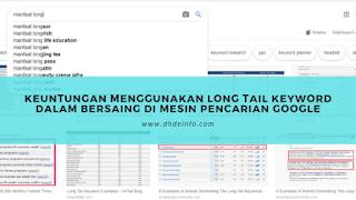 Keuntungan Menggunakan Long Tail Keyword Dalam Bersaing Di Mesin Pencarian Google