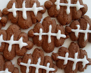 football shaped spritz cookies