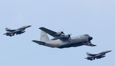 Hercules Malaysia dicegat F16 TNI AU