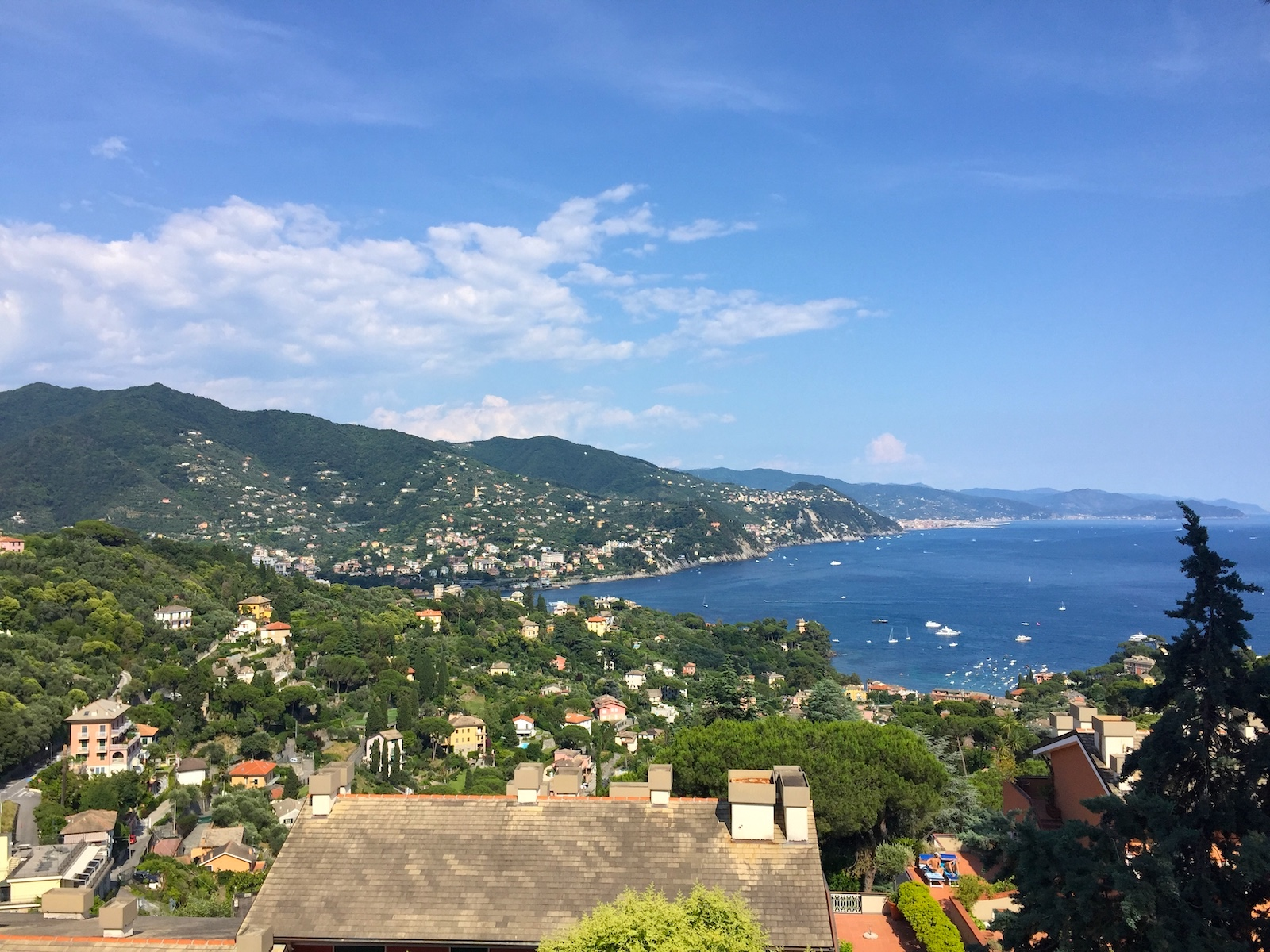 Breadth taking view of Rapallo from Apartment