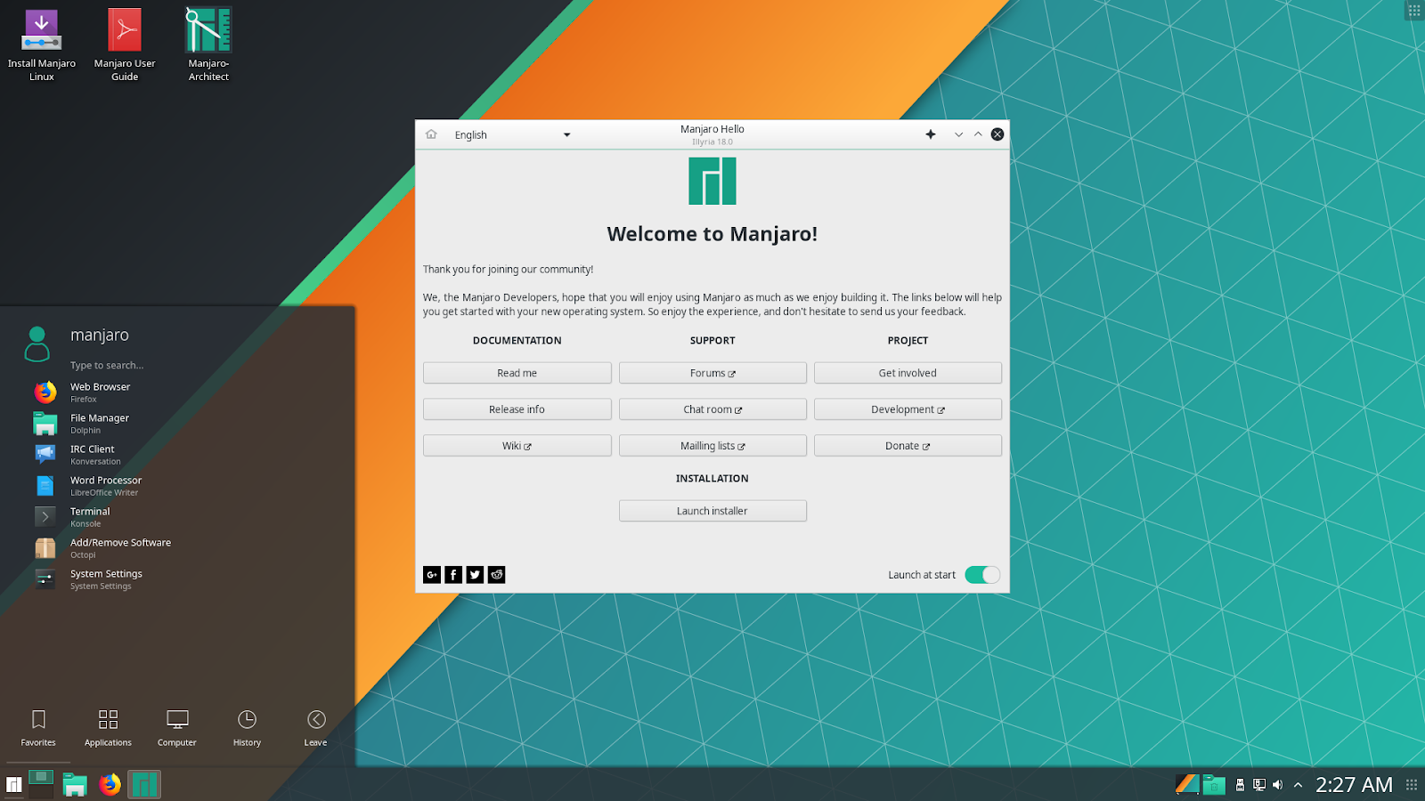 Manjaro Linux 18 0 'Illyria' Released and Available to Download