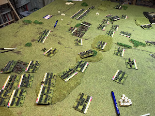 The French flanks press on their attacks with fresh brigades