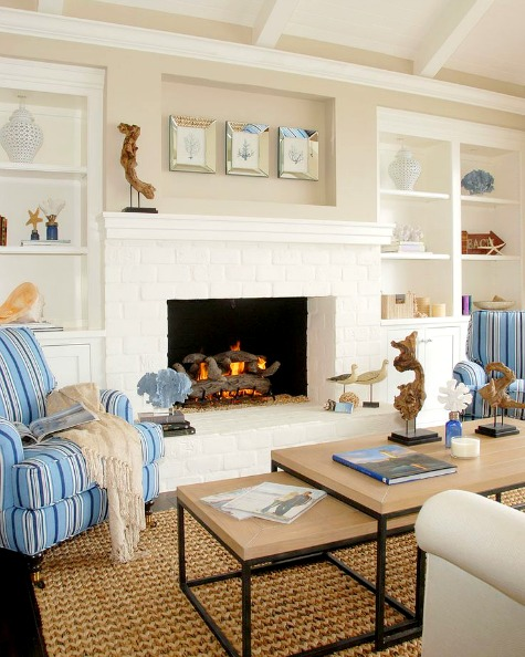Elegant Small Coastal Living Room