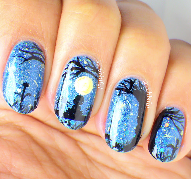 Moonlight Nail Art
