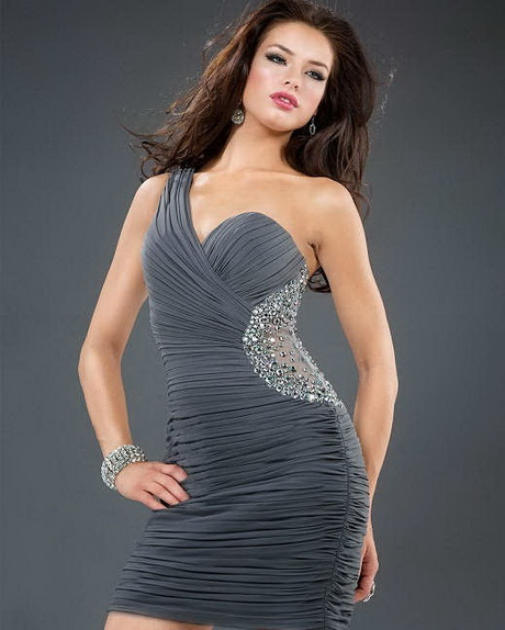 vestido de moda gris