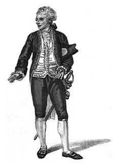 A gentleman in court dress from  A book explaining the ranks  and dignities of British Society (1809)