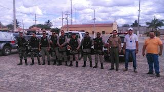 Policiais do 9º BPM realizam blitz em São Vicente do Seridó