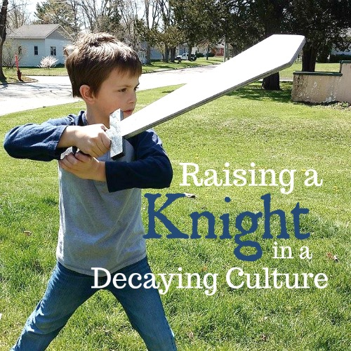 Ideas for Raising Knights in a Decaying Culture plus a great resource to help you