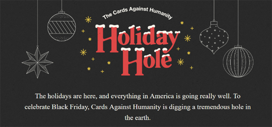 Cards Against Humanity Hoçiday Hole