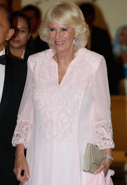 Prince Charles and Duchess Camilla are on a tour of Singapore, Malaysia, Brunei and India. Gala dinner at Majestic Hotel