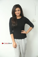 Telugu Actress Mishti Chakraborty Latest Pos in Black Top at Smile Pictures Production No 1 Movie Opening  0001.JPG