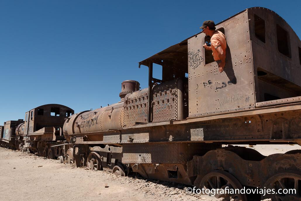 Cementerio trenes olvidados en Uyuni