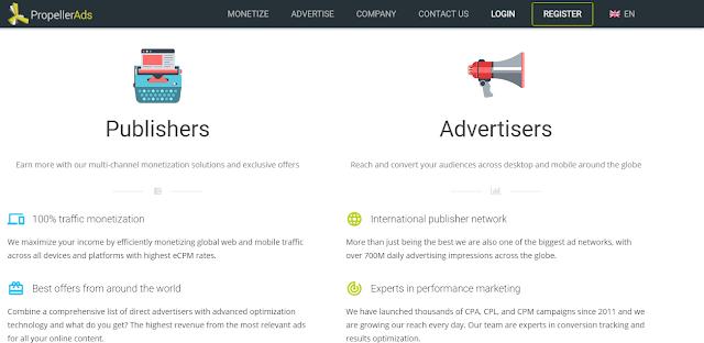 PropellerAds ad network