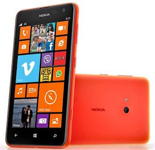 Spesifikasi dan Harga HP Nokia Lumia 625