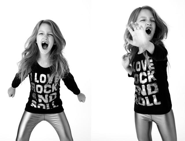 I LOVE ROCK AND ROLL children shirt. PYGear.com