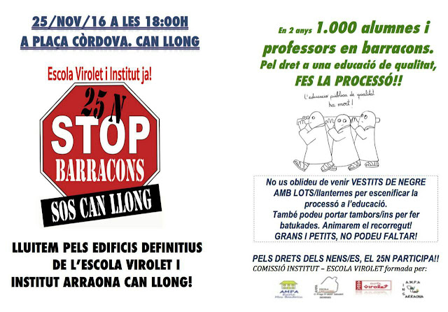 manifestació stop barracons can llong el 25 de novembre