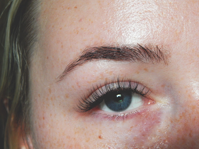 Royalash Studio Review after lash extensions and brow threading