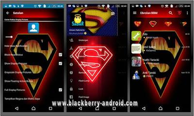 BBM Mod Tema Logo Superman Based 2.12.0.11 APK
