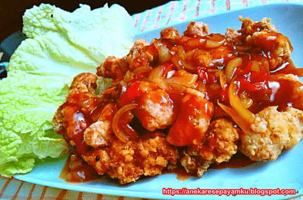 Resep Ayam Goreng Asam Manis Pedas Enak dan Maknyus