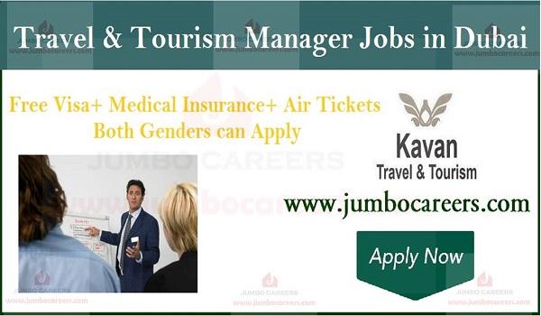 Dubai Tourism job vacancies, Gulf tourism marketing manager jobs with free visa,