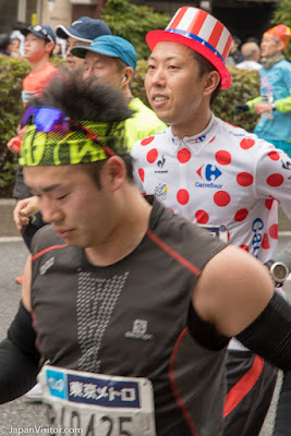 Runners at the Tokyo Marathon 2018, Asakusabashi, Tokyo, Japan.