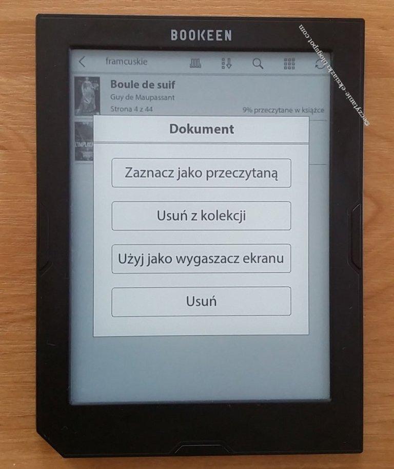 widok edycji stanu książki w kolekcji