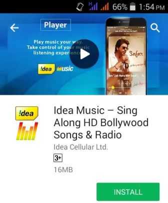 Idea music app download kare aur free data paye