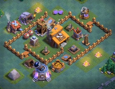 Base Aula Tukang Level 3 Clash Of Clans terkuat