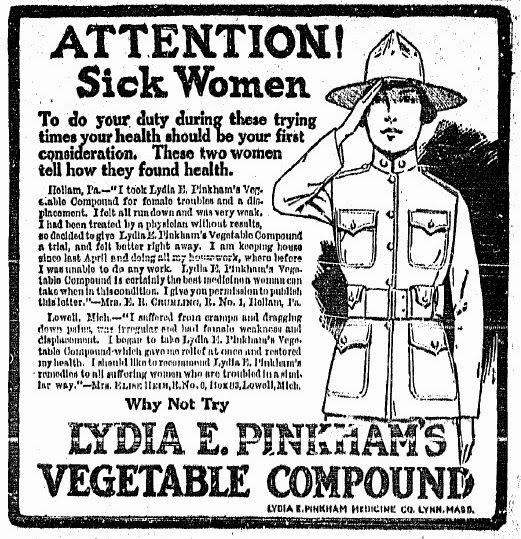 Aberdeen NJ Life: History: Wartime Elixir Ad Targets Women