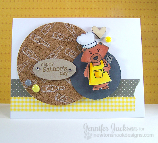 Father's Day card with Cork by Jennifer Jackson using Winston's BBQ stamp set |  Newton's Nook Designs