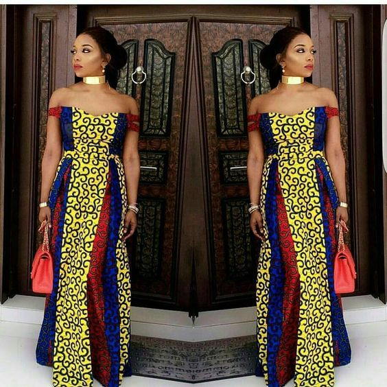 Online Hub For Fashion Beauty And Health: Ankara Off Shoulder Long ...