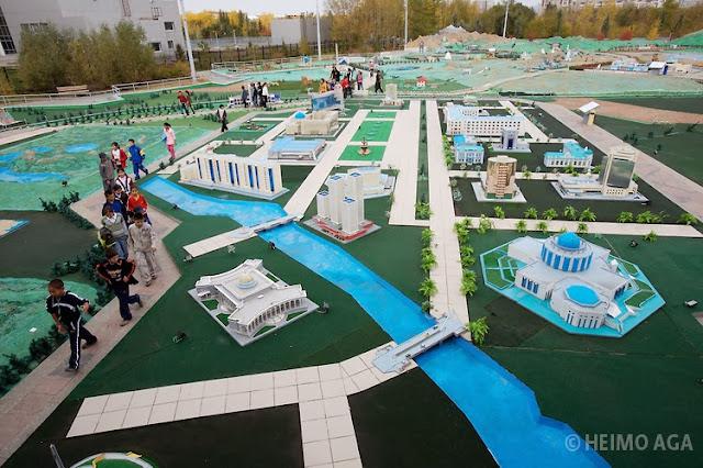 Atameken Kazakistan Haritası açık hava müzesi