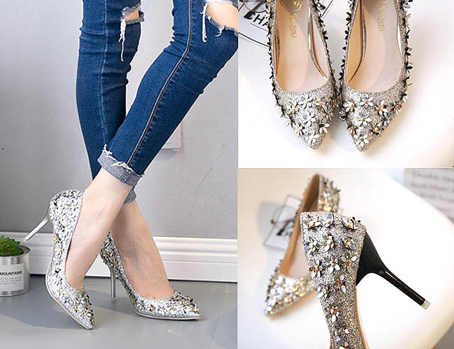 New Style Flowers adalah high heels Korean style