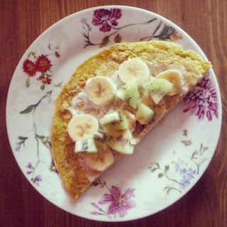 Omlet z bananem i kiwi