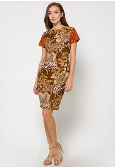 model baju batik kantor wanita berjilbab Terbaru