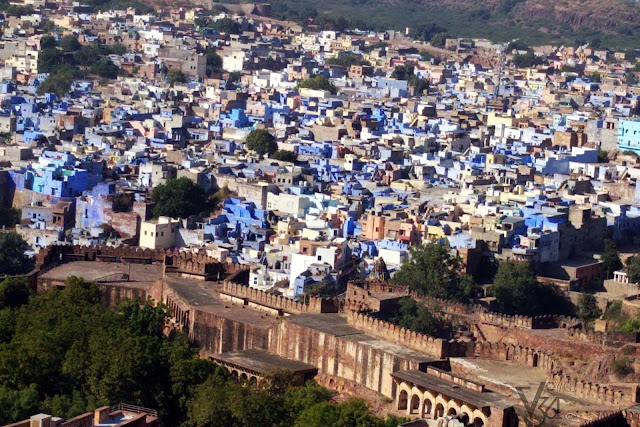 Blue city as seen from the fort