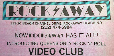 Rock Away rock club promotion.