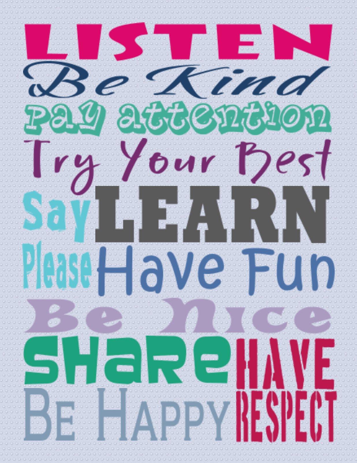 Classroom Rules Quotes Quotesgram