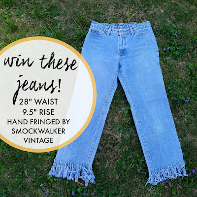 fashion revolution haulternative DIY fringed denim with smockwalker vintage
