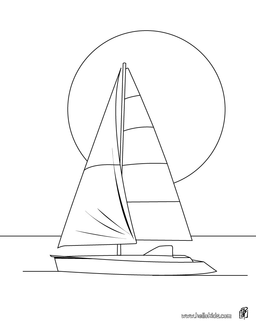 printable sailboat coloring pages | Free Coloring Pages Printable: Boat Coloring Pages