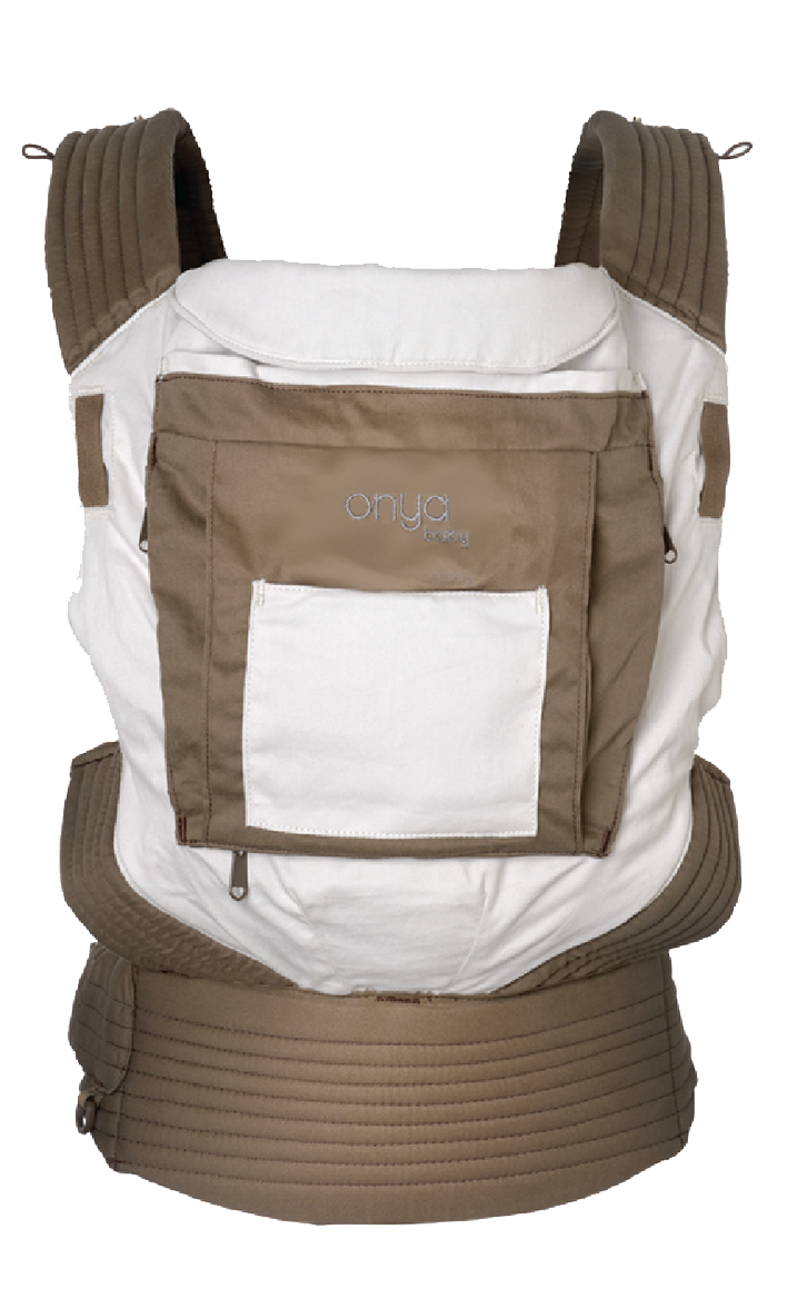 Onya Cruiser Soft Structured Carrier (SSC) in Choc Chip/Dove.