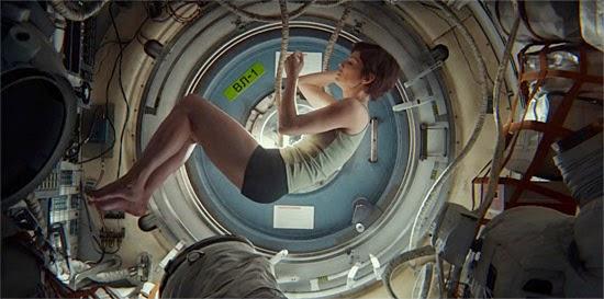Sandra Bullock no filme Gravidade