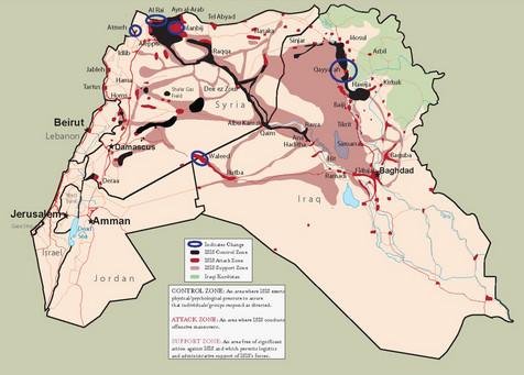 wilayah isis di irak dan suriah