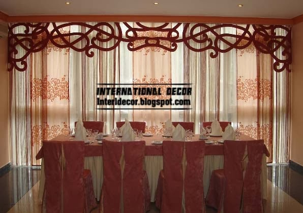 fashionable japanese curtain for dining room - Window Curtain Design Ideas